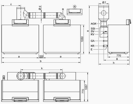 Многокотловая газовая установка VIESSMANN Vitogas 100F GS1D932